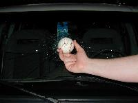 The Culprit was a foul ball that flew over the corner of section 205.