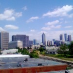 The Atlanta skyline from the roof of the MailChimp offices