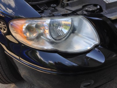 After treatment the headlight is much better!